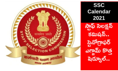 Ssc Calendar 2021 Exam Schedule Revised For Stenographer, Je, Chsl And Si
