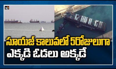 Suez Canal Ships Stuck In