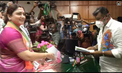 Kushboo Sundar Suresh Gopi Files Nomination1