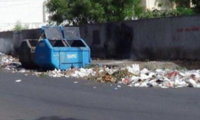 A newborn baby girl dumped in a garbage