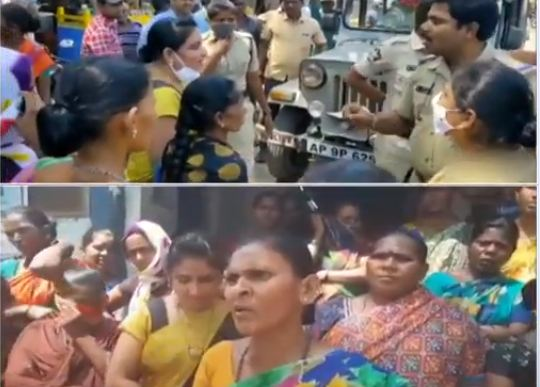 Voters protest in Allagadda for elections