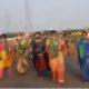 capital area's Women farmers padayatra to Vijayawada