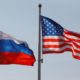 File Photo: National Flags Of Russia And U.s. Fly At Vnukovo International Airport In Moscow