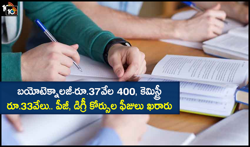 Ap Government Release Fees Details For Pg Degree Courses In Priavate Colleges