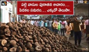 Dung Cakes Festival Of Veerabadhra Swamy Jatara