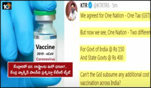 Minister Ktr Tweeted Questioning The Central Government Vaccine Policy