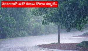 Another Three Days Rains In Telangana State