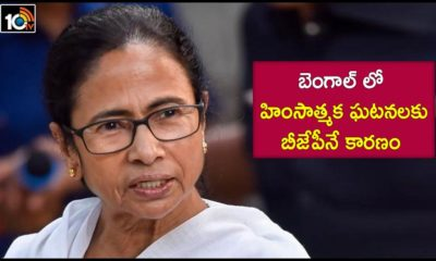 Cm Mamata Banerjee Blames Bjp For Violence In West Bengal