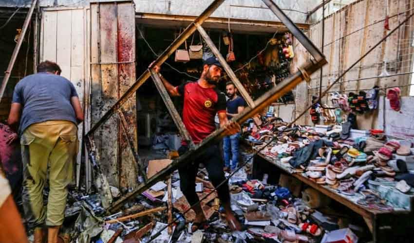 Baghdad Bomb Blast : బాగ్దాద్లో బాంబు పేలుడు, 35మంది మృతి