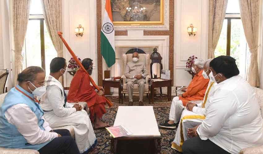https://10tv.in/spiritual/chinna-jeeyar-swamy-invites-president-ram-nath-kovind-for-ramanuja-statue-inauguration-at-muchintal-276099.html