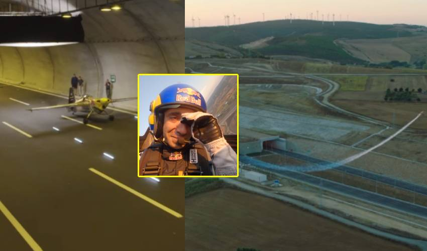 Road Tunnel : రెండు టన్నెళ్ల నుంచి విమానం తీసుకెళ్లిన పైలట్ .. వైరల్ వీడియో